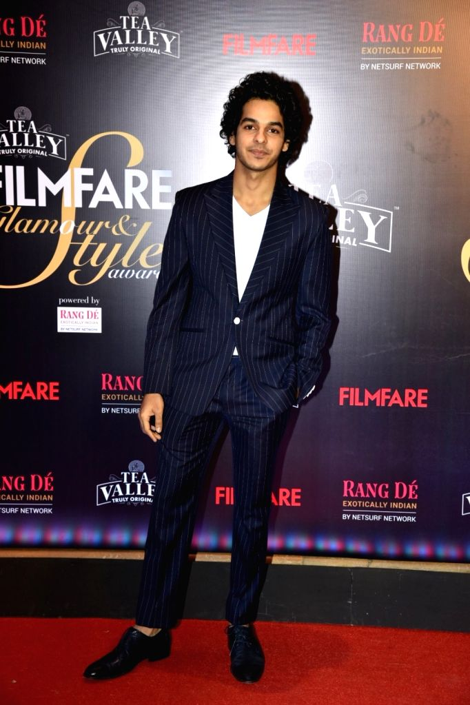 Actor Ishaan Khatter on the red carpet of Filmfare Glamour And Style Awards 2019, in Mumbai on Feb 11, 2019. - Ishaan Khatter