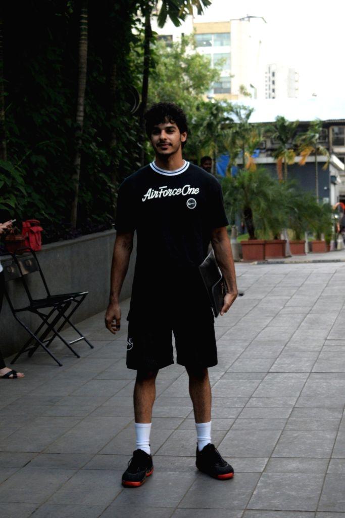 Actor Ishaan Khatter seen at Andheri in Mumbai, on Aug 28, 2019. - Ishaan Khatter