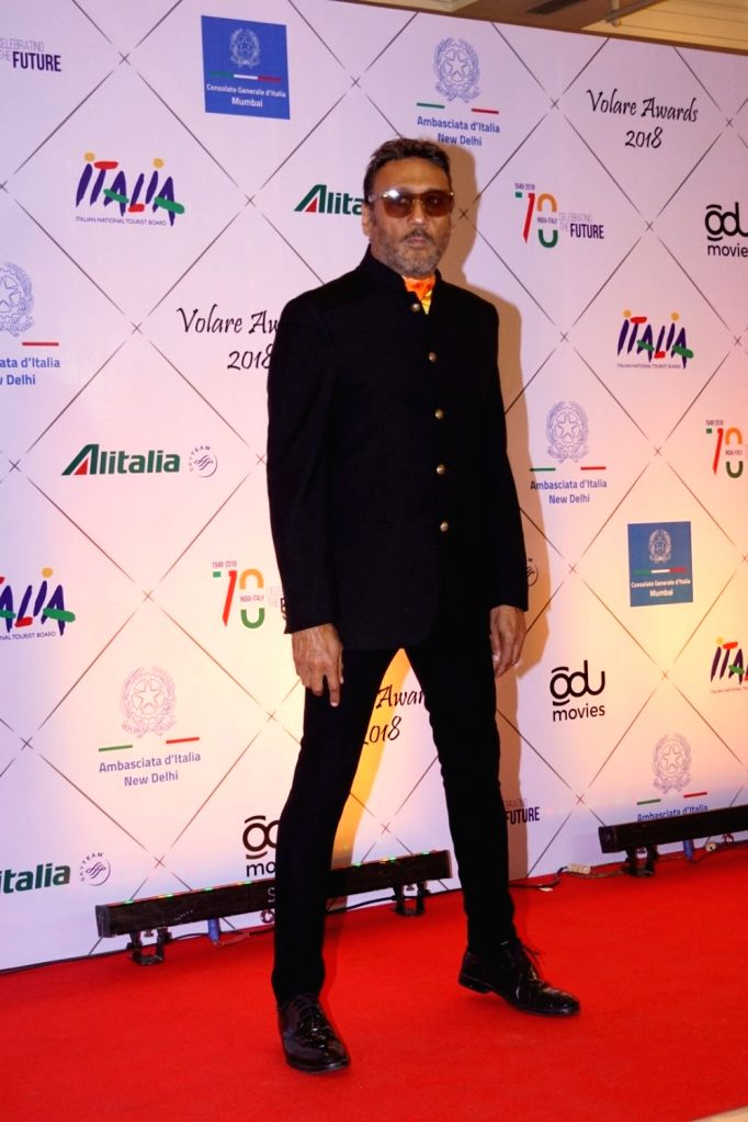Actor Jackie Shroff at the red carpet of Volare Awards 2018 in Mumbai on Feb 9, 2018. - Jackie Shroff