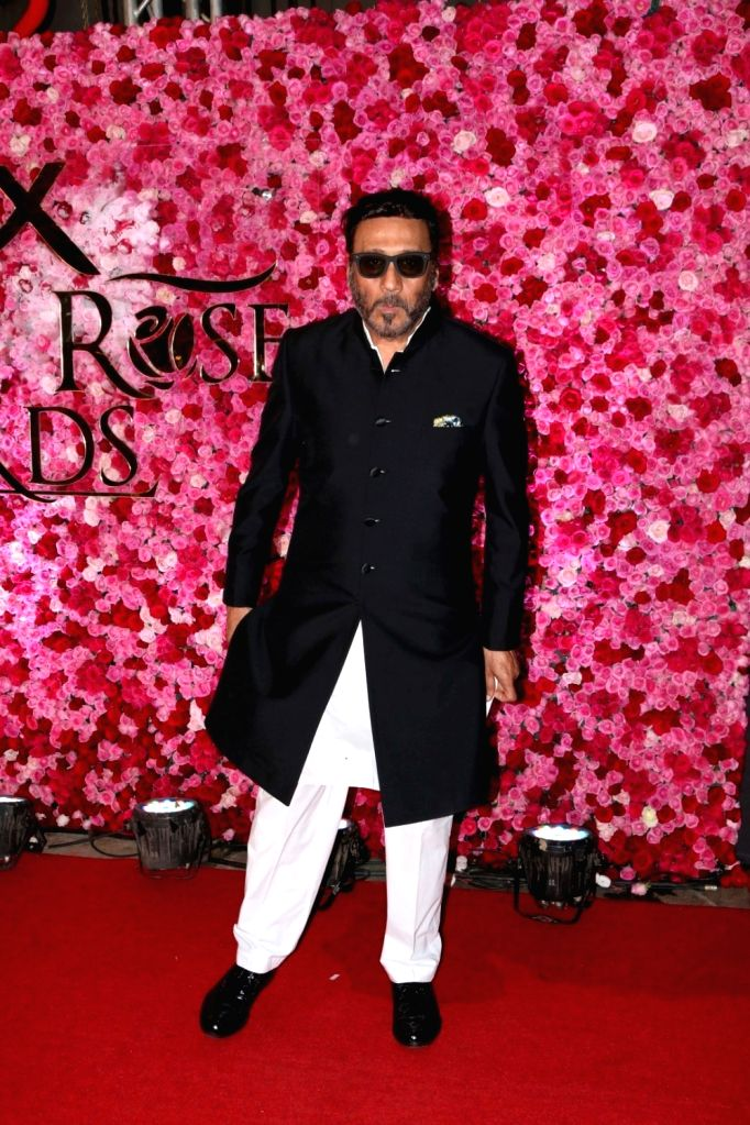 Actor Jackie Shroff during the Lux Golden Rose Awards 2016 in Mumbai on Nov 12, 2016. - Jackie Shroff