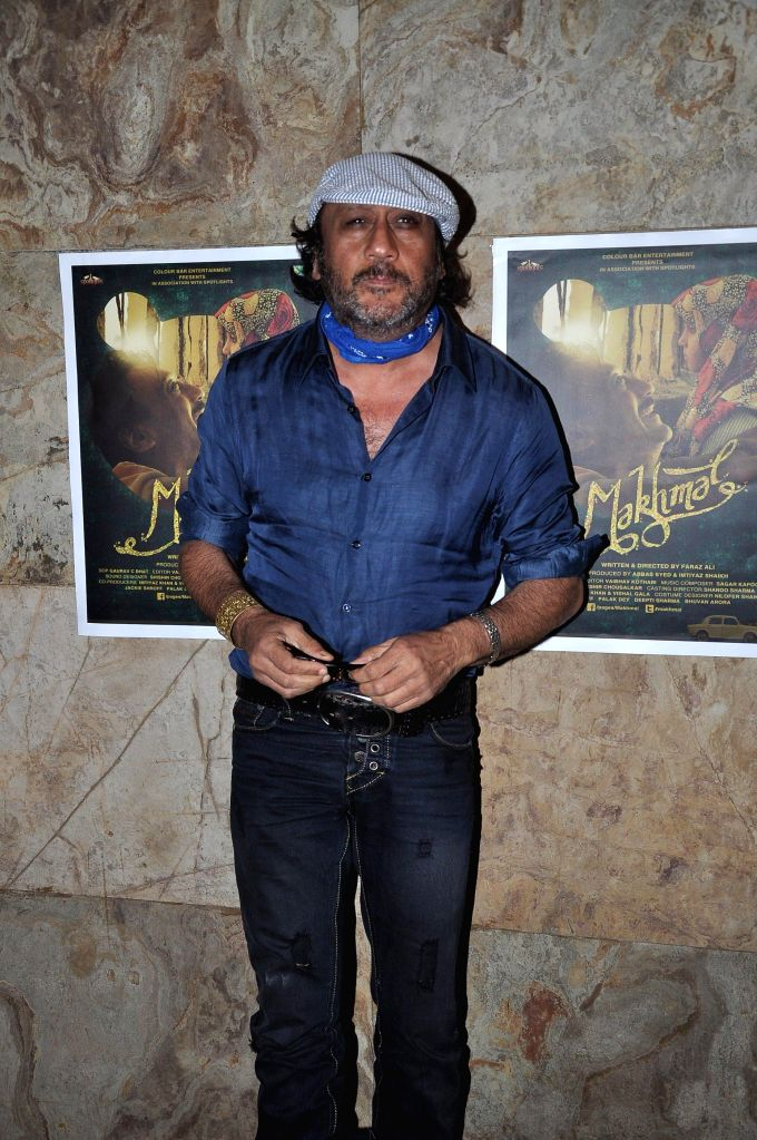 Actor Jackie Shroff during the screening of Short film Makhmal in Mumbai on July 11, 2014. - Jackie Shroff