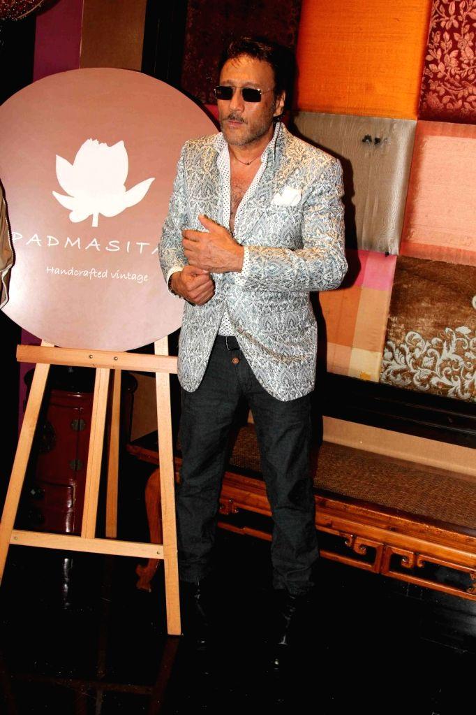 Actor Jackie Shroff during the showcase of Padmasitaa Vivaha exhibition in Mumbai, on November 20, 2015. - Jackie Shroff
