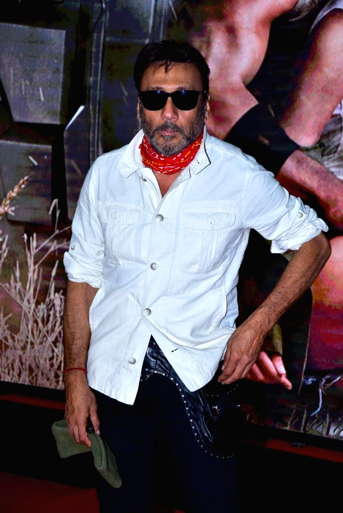 "Actor Jackie Shroff during the special screening of film ""Baaghi 2"" on March 29, 2018. - Jackie Shroff"