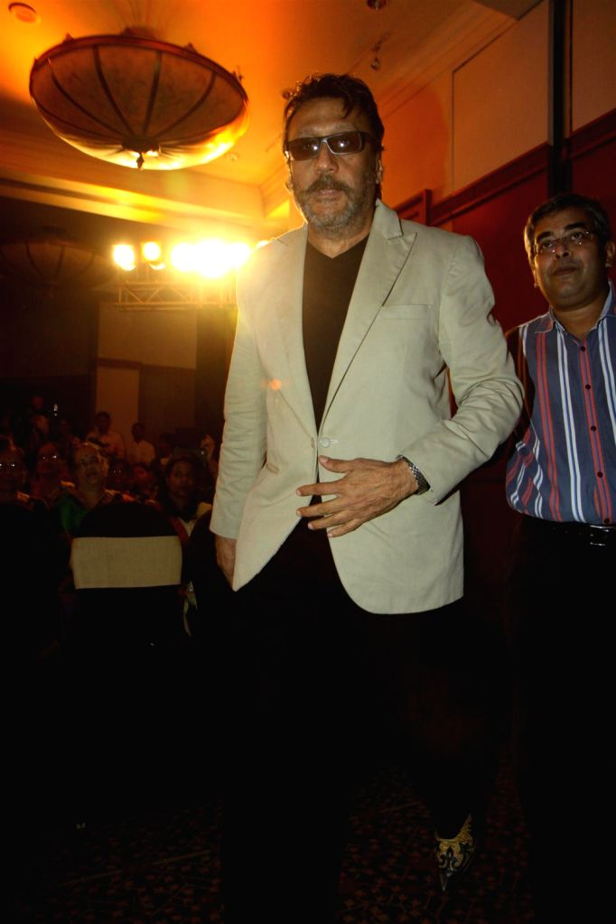 Actor Jackie Shroff during unveiling of hand impression of Veteran actress Asha Parekh as a tribute to her contribution to the film industry in Mumbai on Dec.6, 2013. - Jackie Shroff
