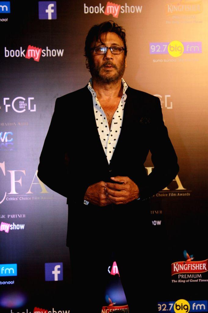 Actor Jackie Shroff on the red carpet of Critics' Choice Film Awards 2019, in Mumbai, on April 21, 2019. - Jackie Shroff