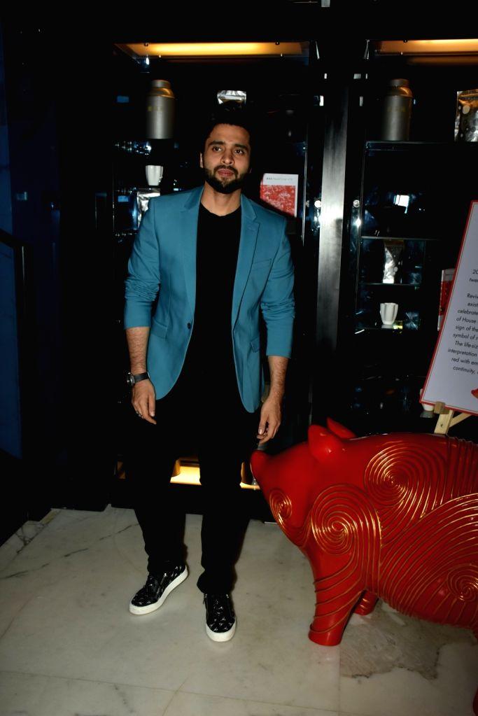 Actor Jackky Bhagnani at fashion designer Masaba Gupta's birthday bash in Mumbai's Bandra on Feb 2, 2019. - Jackky Bhagnani and Masaba Gupta