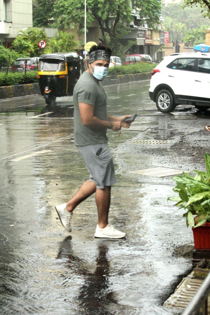 Actor Jackky Bhagnani seen in Mumbai's Juhu on July 30, 2020. - Jackky Bhagnani