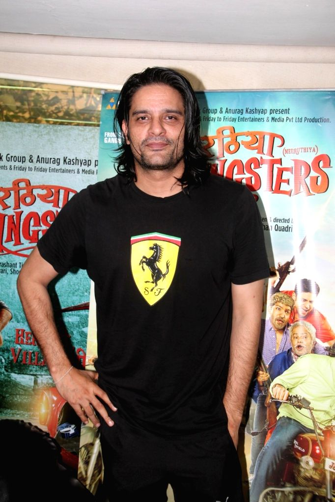 Actor Jaideep Ahlawat during a media interaction of film film Meeruthiya Gangster, in Mumbai, on Aug 17, 2015. - Jaideep Ahlawat