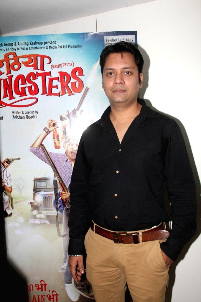 Actor Jatin Sarna during a media interaction of film film Meeruthiya Gangster, in Mumbai, on Aug 17, 2015. - Jatin Sarna
