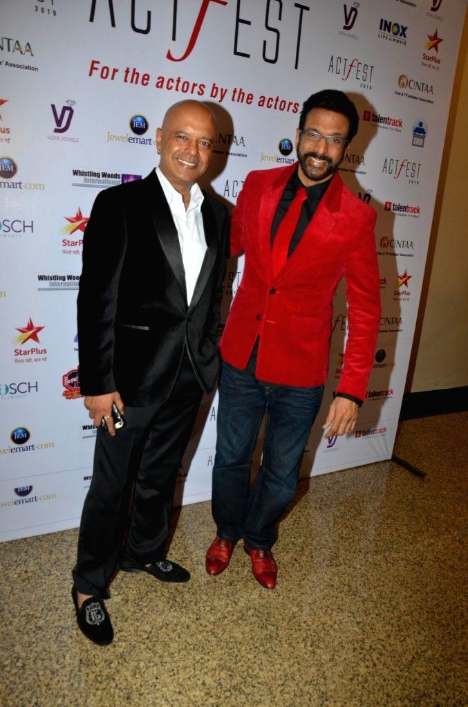 Actor Javed Jaffrey and director Naved Jaffrey at CINTAA's ActFest in Mumbai, on Feb 16, 2019. - Javed Jaffrey