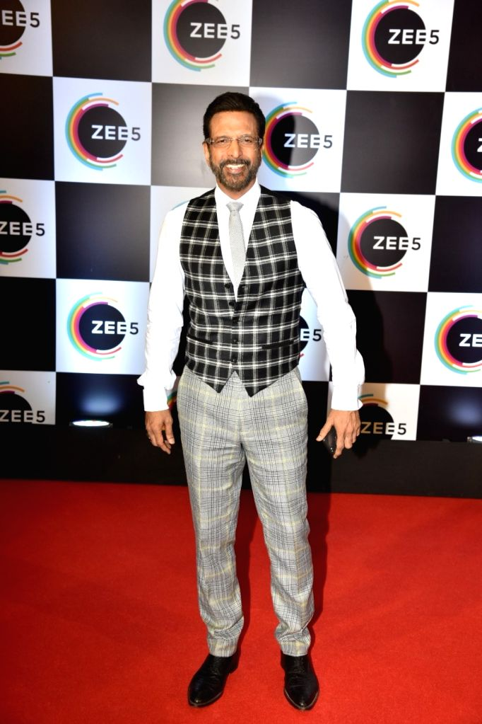 Actor Javed Jaffrey on the red carpet of Zee5's first anniversary celebrations in Mumbai, on Feb 14, 2019. - Javed Jaffrey