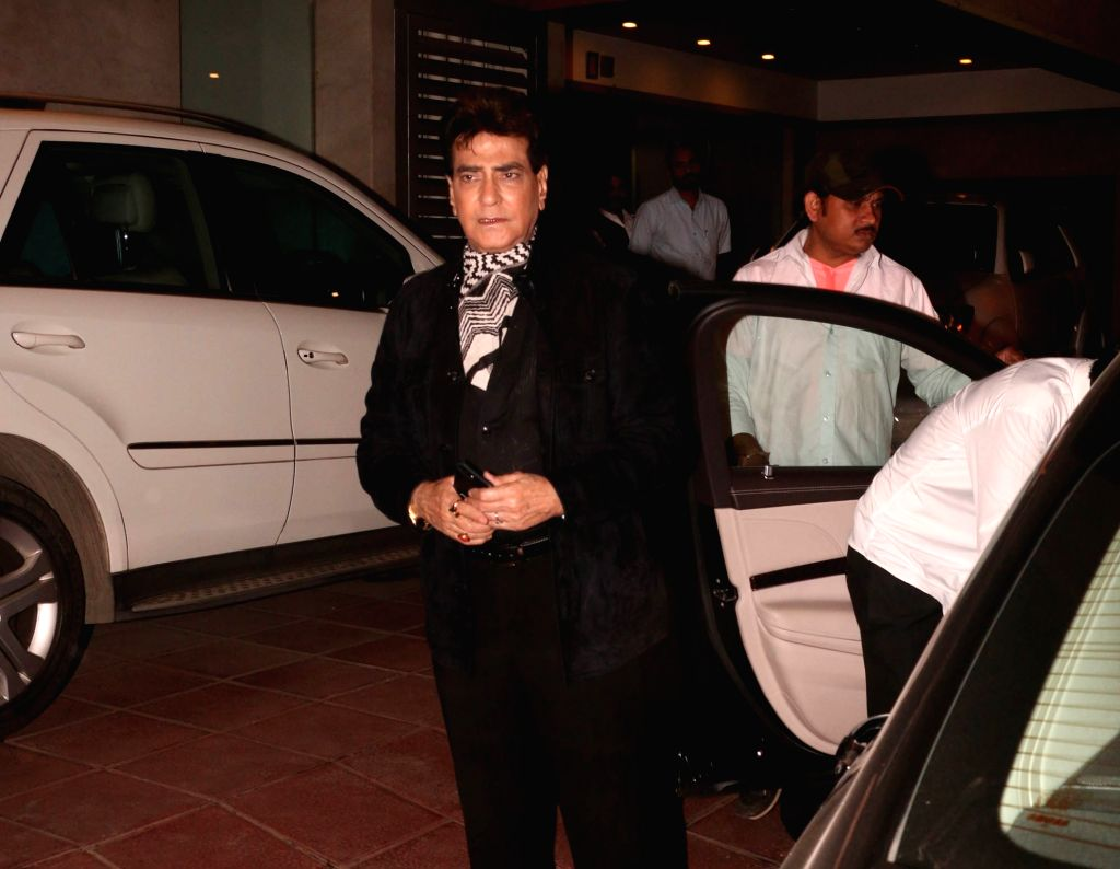 Actor Jeetendra arrives at the naming ceremony of producer Ekta Kapoor's son in Mumbai on Feb 11, 2019. - Jeetendra and Ekta Kapoor