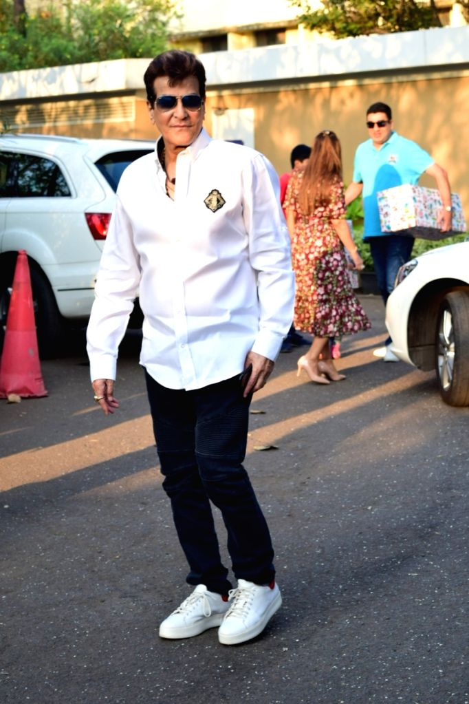 Actor Jeetendra at the birthday party of his grandson Ravie Kapoor who turned one, in Mumbai on Jan 26, 2020. - Jeetendra and Ravie Kapoor