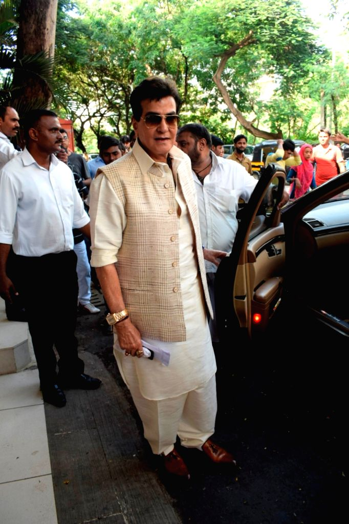 Actor Jeetendra during Ganpati Celebrations at his residence in Mumbai on Sept 16, 2018. - Jeetendra