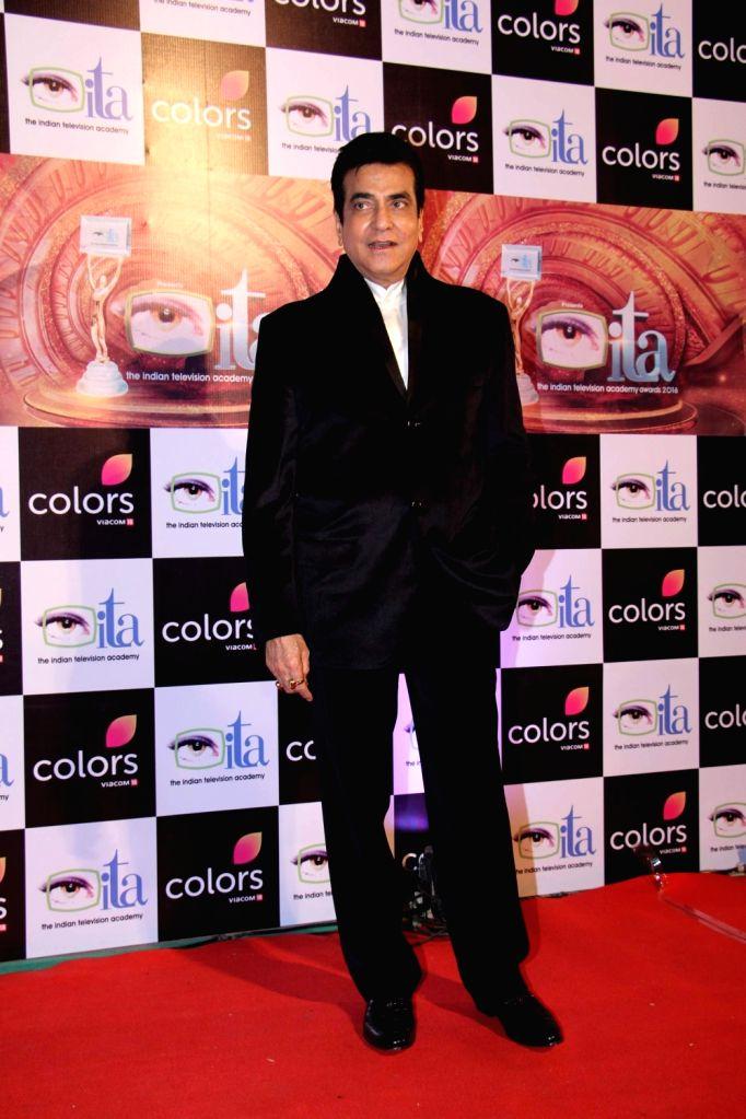 Actor Jeetendra during the 16th Indian Television Academy (ITA) Awards 2016 in Mumbai on Nov 13, 2016. - Jeetendra