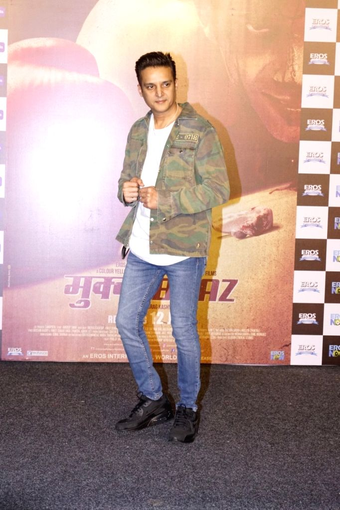 """Actor Jimmy Shergill  at the trailer launch of his upcoming film """"Mukkabaaz"""" in Mumbai on Dec 7, 2017. - Jimmy Shergill"""