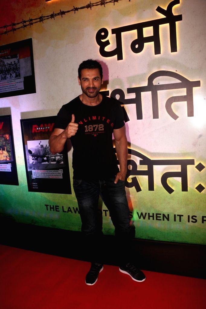 "Actor John Abraham at the trailer launch of his upcoming film ""Romeo Akbar Walter"", in Mumbai, on March 4, 2019. - John Abraham"