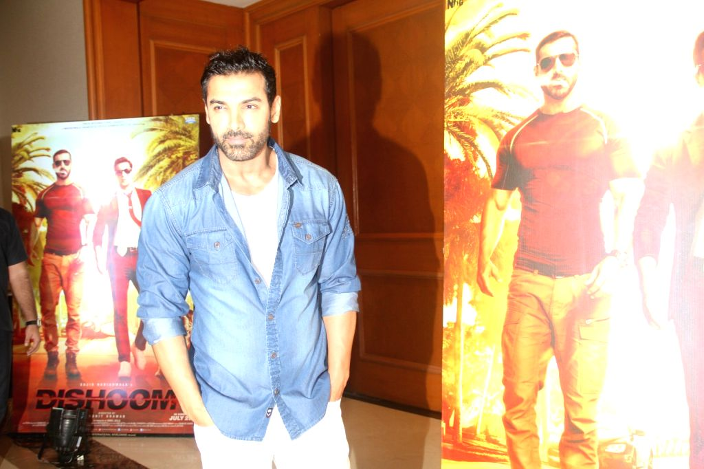 Actor John Abraham during a media interaction for success of the film Dishoom in Mumbai on August 3, 2016 - John Abraham