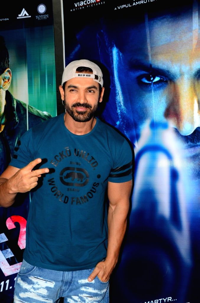 Actor John Abraham during media interaction of the film Force 2, in Mumbai, on Nov 18, 2016. - John Abraham