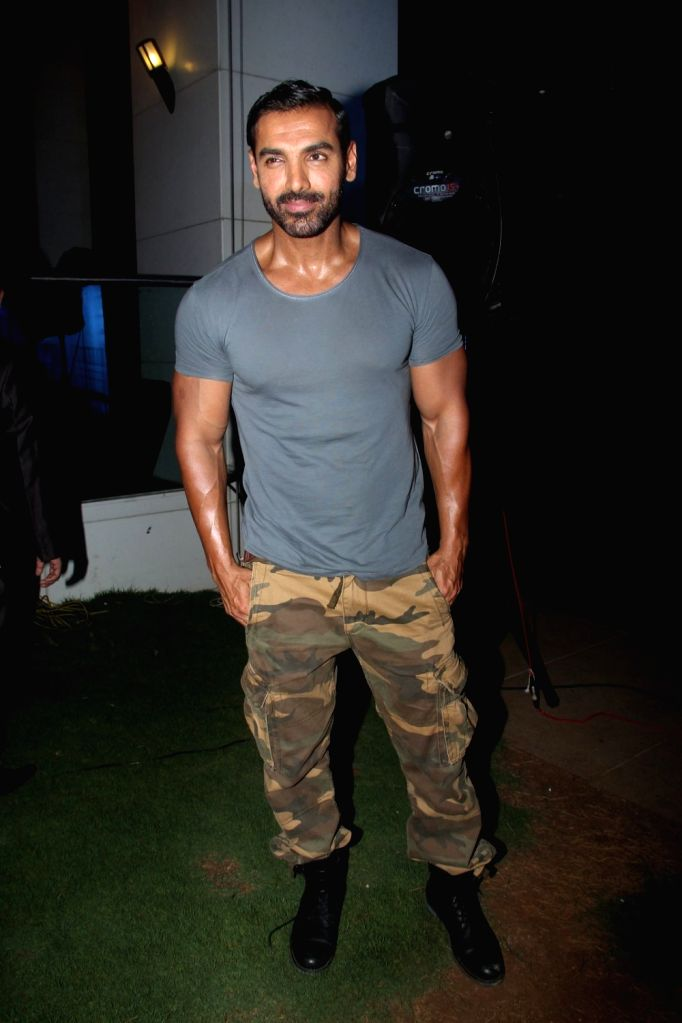 Actor John Abraham during the launch of cook book `Karwar to Kolhapur via Mumbai`, by Smita Deo, wife of filmmaker Abhinay Deo, in Mumbai on April 17, 2016. - John Abraham