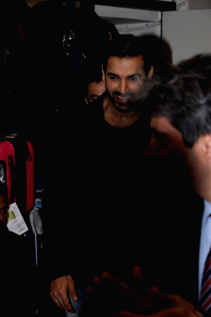 Actor John Abraham during the launch of Dr. Aashish Contractor's book The Heart Truth,  in Mumbai on March 23, 2017. - John Abraham
