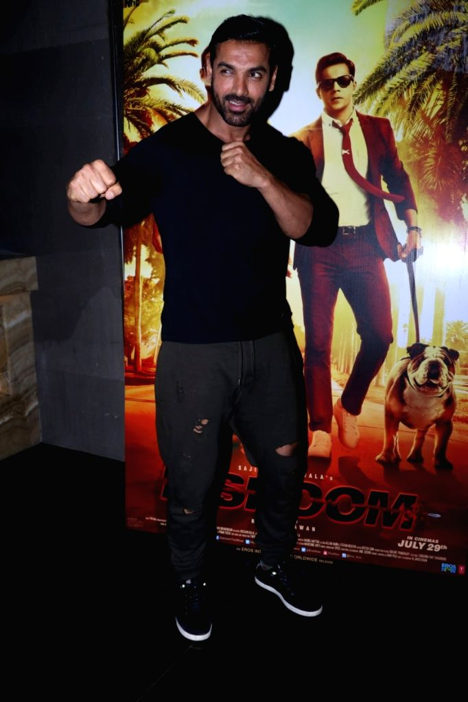 Actor John Abraham during the promotion of film Dishoom, in Mumbai on July 2, 2016. - John Abraham