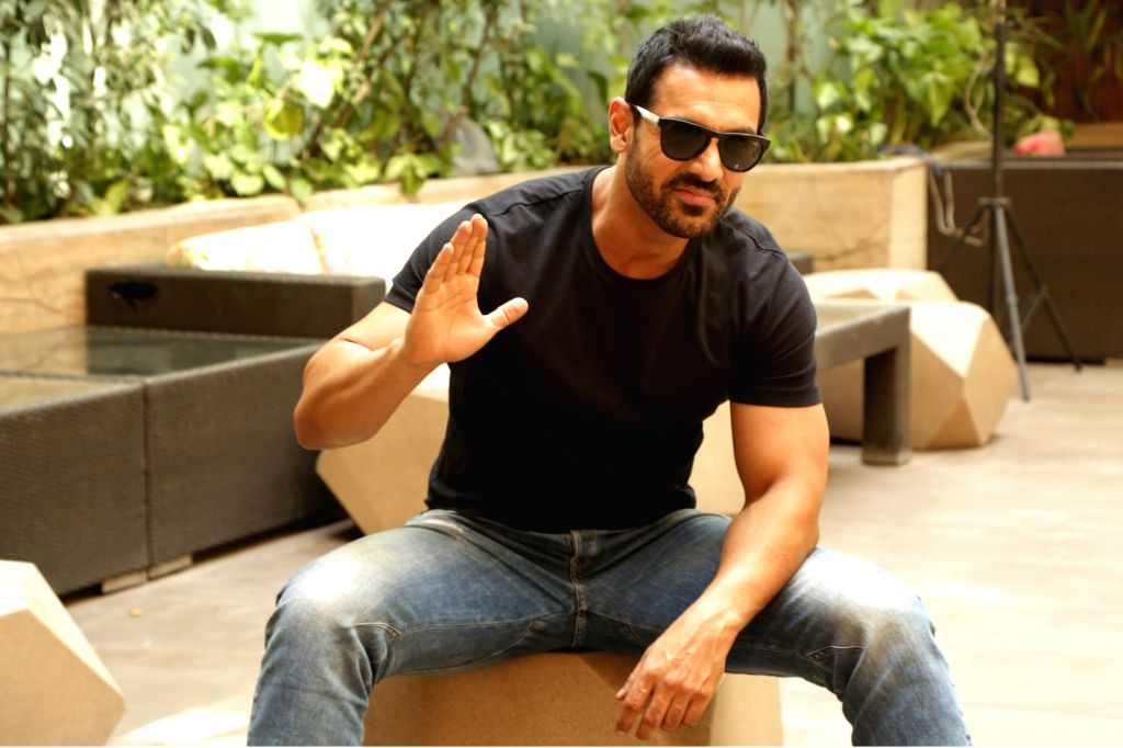 """Actor John Abraham during the promotions of his upcoming film """"Parmanu: The Story of Pokhran"""", in New Delhi on May 22, 2018. - John Abraham"""