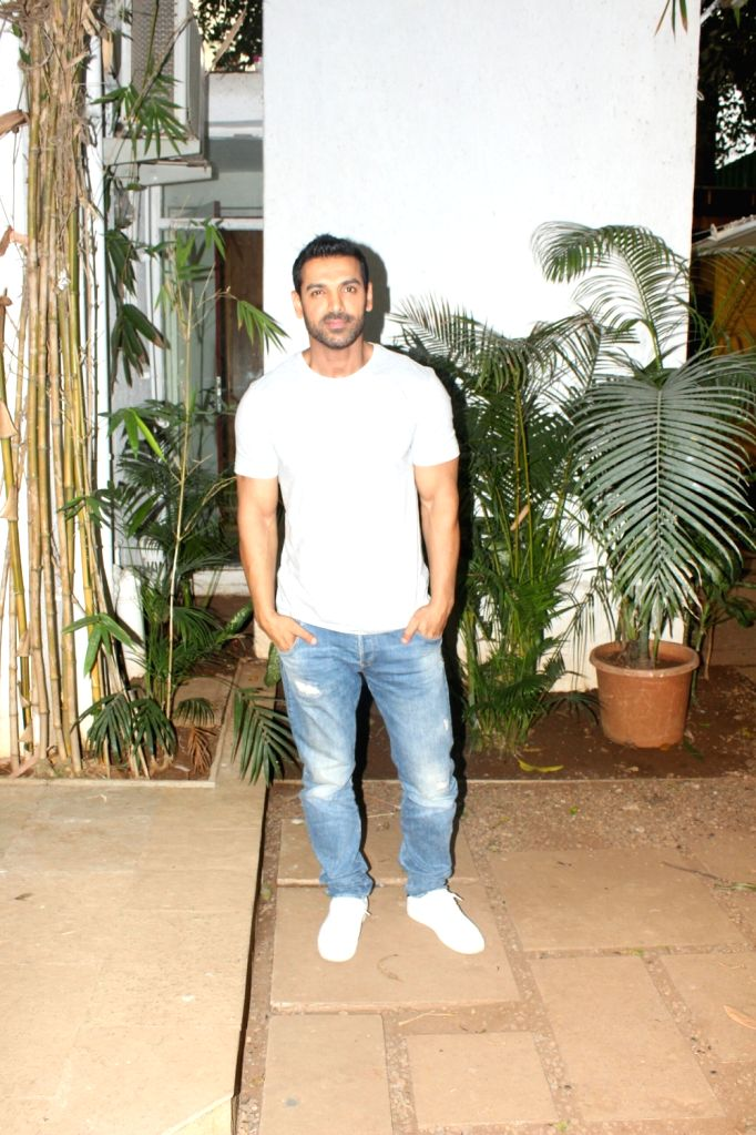Actor John Abraham seen at his office in Bandra, Mumbai on May 19, 2018. - John Abraham