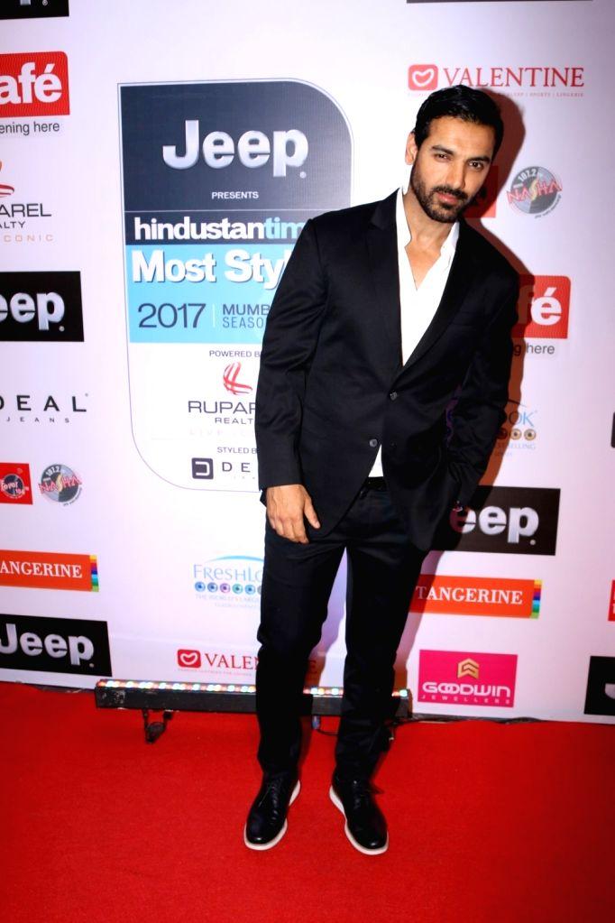 Actor John Ambraham during the HT Most Stylish Awards in Mumbai,  on March 24, 2017. - John Ambraham