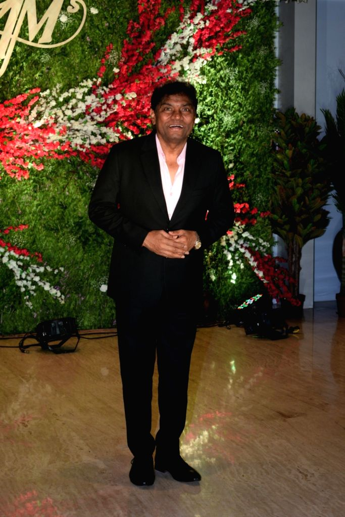 Actor Johnny Lever at the wedding reception of producer Jayantilal Gada's son Aksshay Gada in Mumbai, on March 31, 2019. - Johnny Lever