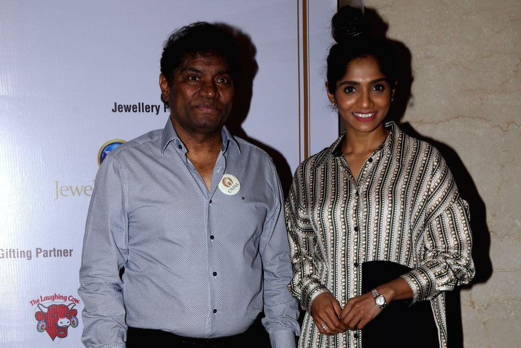 Actor Johny Lever and his daughter Jamie Lever at the inauguration of ActFest, which is organised by Cine and TV Artistes' Association (Cintaa) and 48 Hour Film Project, in Mumbai on Feb ... - Johny Lever