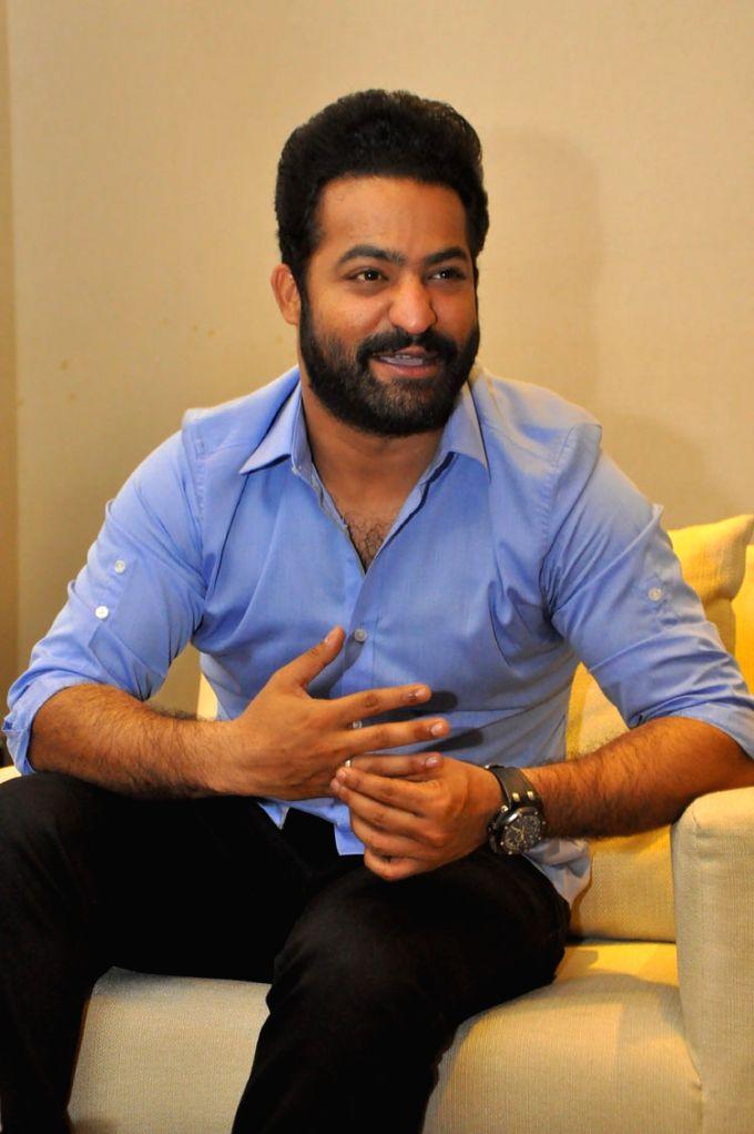 "Actor Junior NTR during a pressmeet of his upcoming film ""Jai Lava Kusa"" in Hyderabad on Sept 18, 2017. - Junior N"