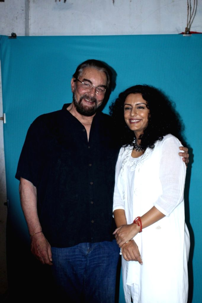 Actor Kabir Bedi along with his wife Parveen Dusanj during the screening of short film The True Cost in Mumbai on Nov 21, 2016. - Kabir Bedi