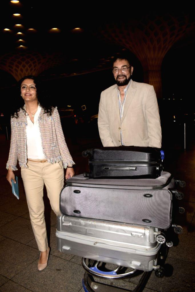 Kabir Bedi and Parveen Dusanj leave for Bangkok to attend