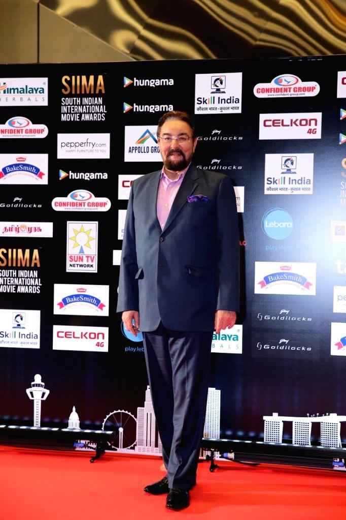 Actor Kabir Bedi at SIIMA Awards 2016. - Kabir Bedi