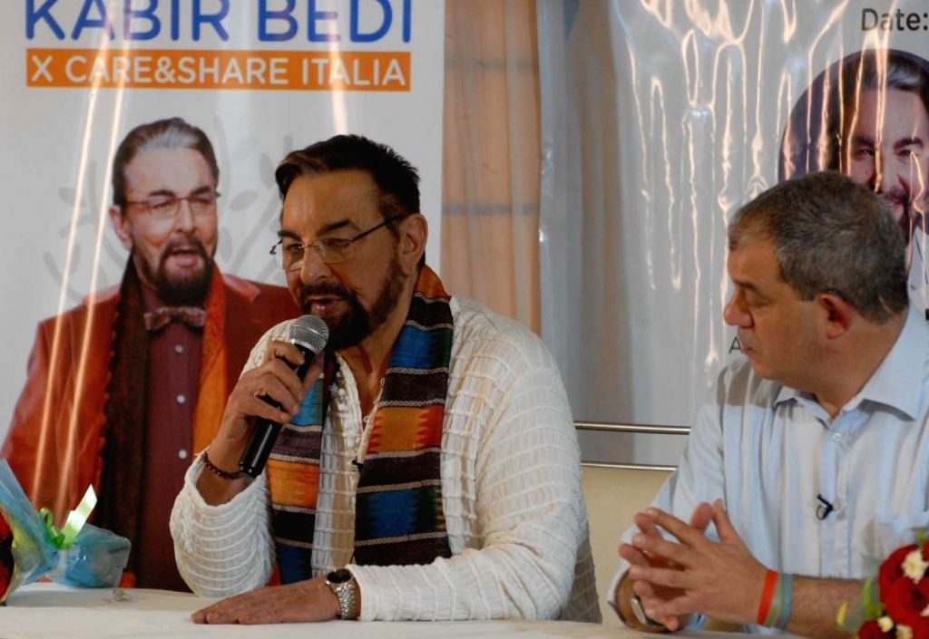 Actor Kabir Bedi during a programme in Hyderabad on Jan 4, 2019. - Kabir Bedi