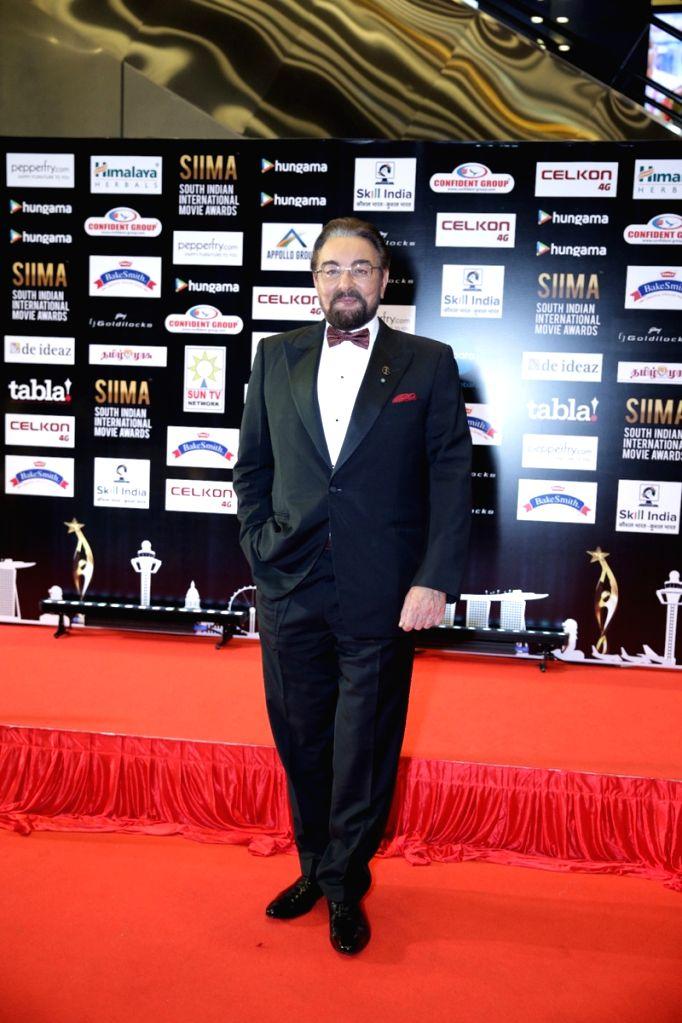 Actor Kabir Bedi on the second day of SIIMA Awards 2016. - Kabir Bedi