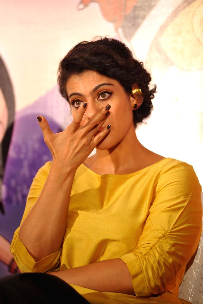 Actor Kajol Devgan during the press conference of animation film Mighty Raju Rio Calling in Mumbai on May 09, 2014. - Kajol Devgan