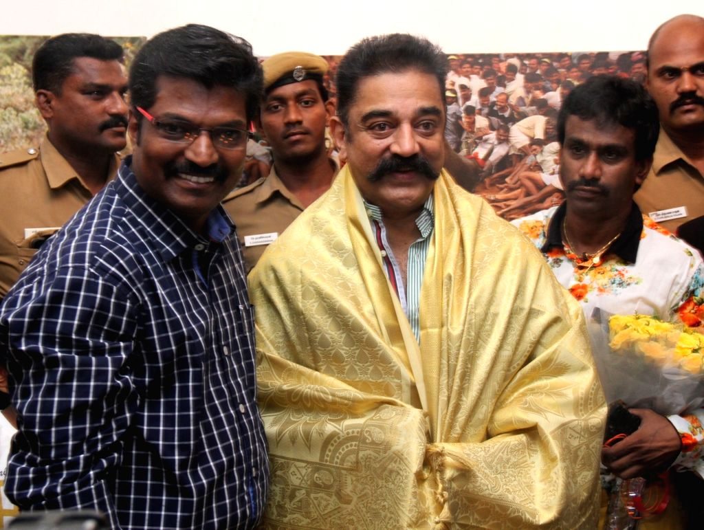 Actor Kamal Haasan inaugurates Jalli Kattu (Veera Vilayattu) Photo Exhibition. - Kamal Haasan