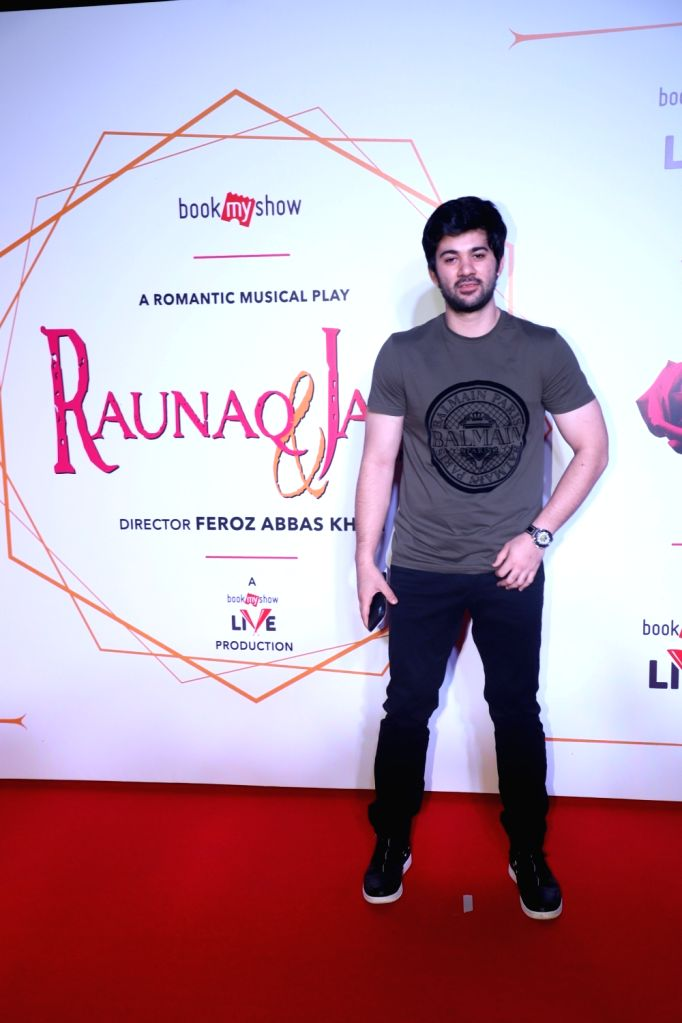 "Actor Karan Deol during screening of Feroz Abbas Khan's play ""Raunaq and Jassi"" in Mumbai on Nov 28, 2019. - Karan Deol and Feroz Abbas Khan"