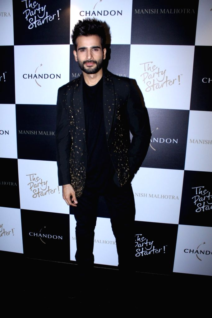 Actor Karan Tacker during the launch of Manish Malhotra X Chandon Champagne bottles Limited Edition End Of Year 2017 in Mumbai on Oct 9, 2017. - Karan Tacker
