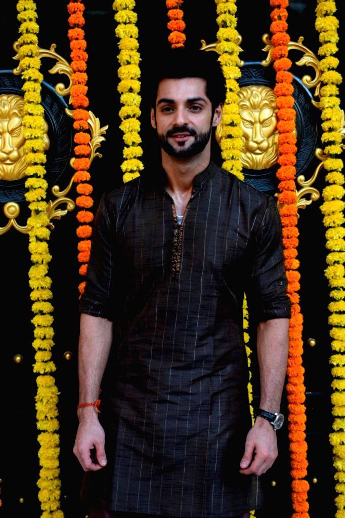 Actor Karan Wahi at producer Ekta Kapoor's residence for Ganpati Celebrations in Mumbai on Sept 16, 2018. - Karan Wahi and Ekta Kapoor