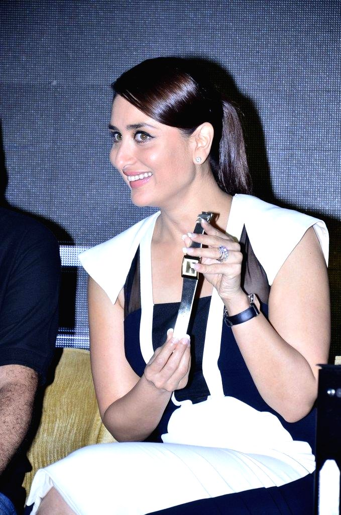 Actor Kareena Kapoor during the launch of Singham time wear collection by Police in Mumbai, on August 9, 2014. - Kareena Kapoor