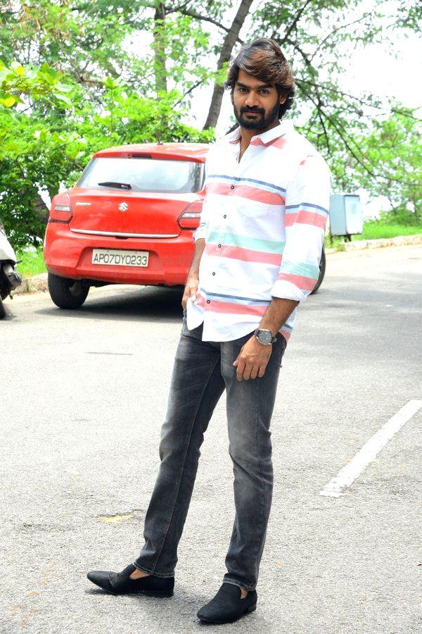 Actor Karthikeya during a interview in Hyderabad. - Karthikeya