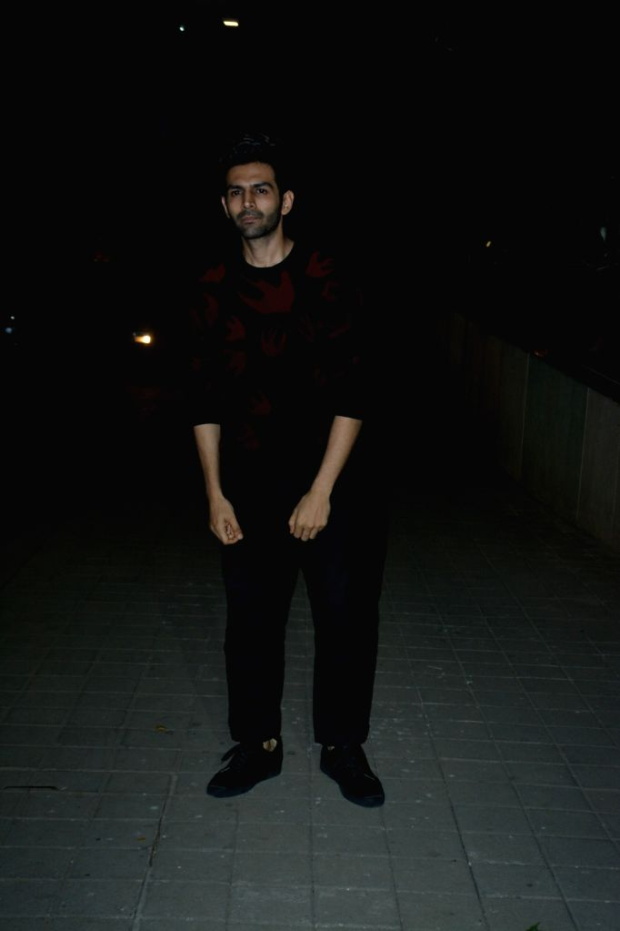 Actor Kartik Aaryan at a party hosted by director Punit Malhotra on Valentine's Day in Mumbai, on Feb 14, 2019. - Kartik Aaryan and Punit Malhotra
