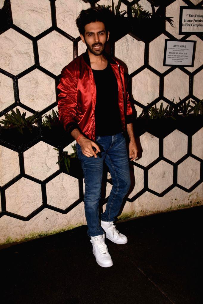 Actor Kartik Aaryan at the producer Dinesh Vijan birthday celebration in Mumbai on July 26, 2018. - Kartik Aaryan
