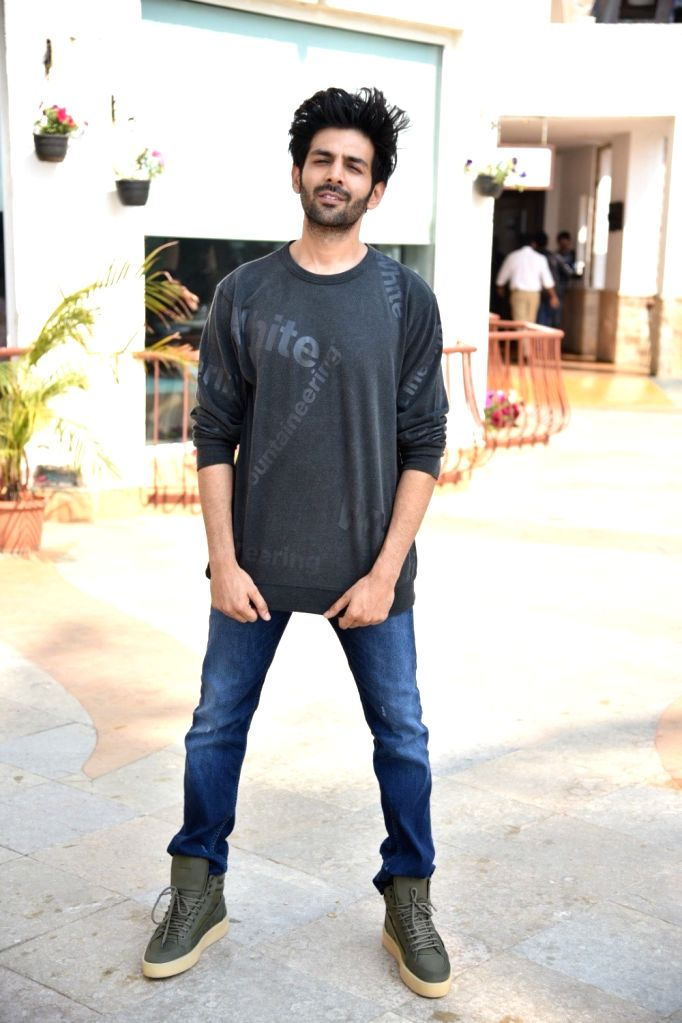 """Actor Kartik Aaryan during a programme organsied to promote his upcoming film """"Luka Chuppi"""" in Mumbai on Feb 20, 2019. - Kartik Aaryan"""