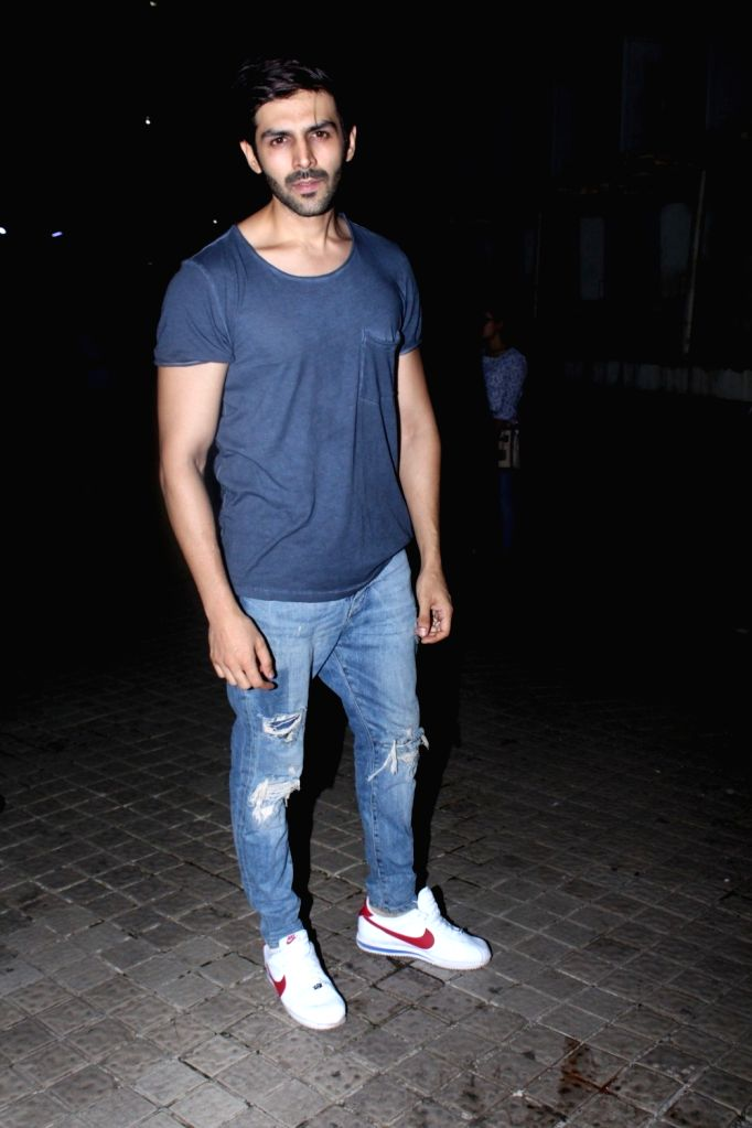 "Actor Kartik Aaryan during the special screening of film ""Partition: 1947"" in Mumbai on Aug 17, 2017. - Kartik Aaryan"