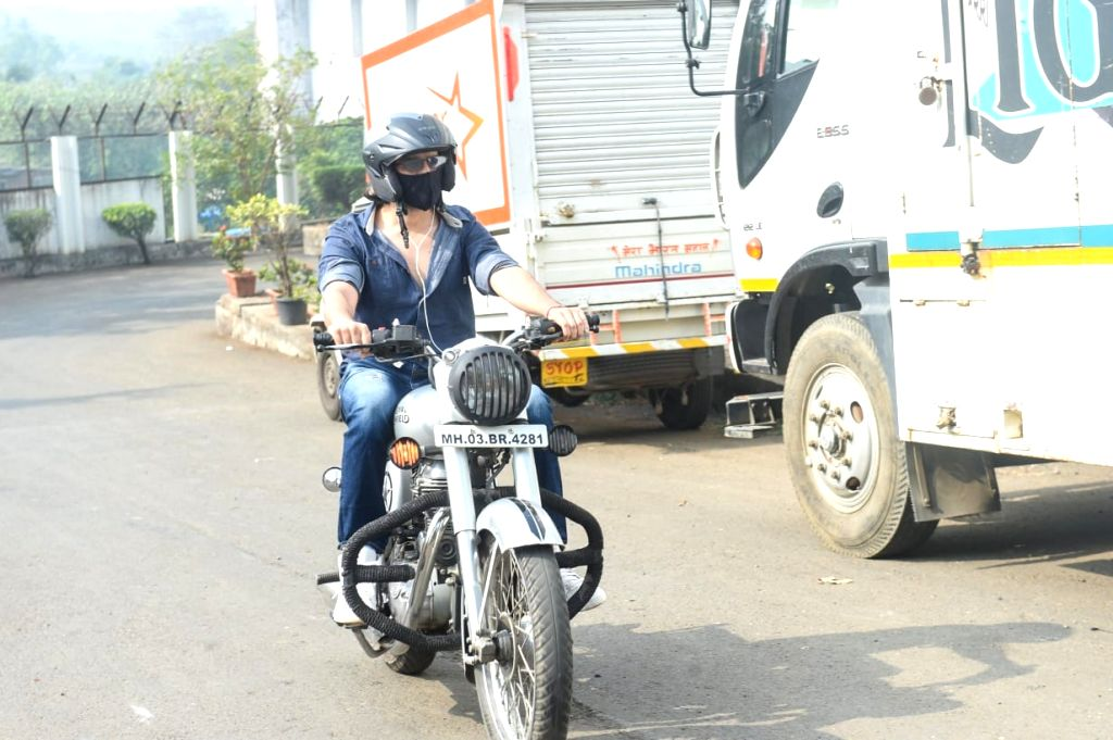 Actor Kartik Aaryan  seen at Filmcity, in Mumbai on Jan 6, 2021. - Kartik Aaryan