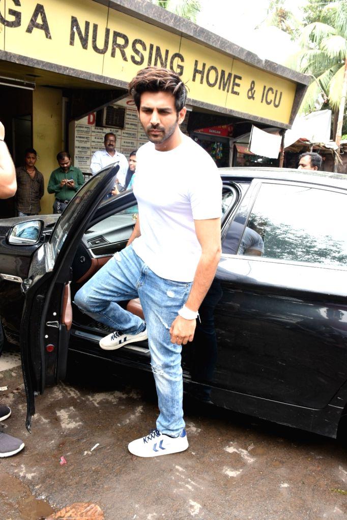 Actor Kartik Aaryan seen at Mumbai's Kalina, on Aug 10, 2019. - Kartik Aaryan